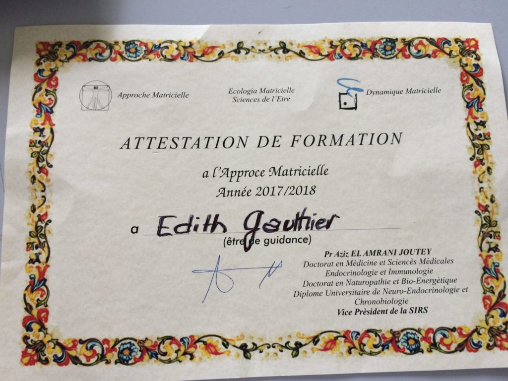 Edith Gauthier - Attestation Formation